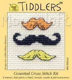 Mouseloft Moustaches Tiddlers cross stitch kit